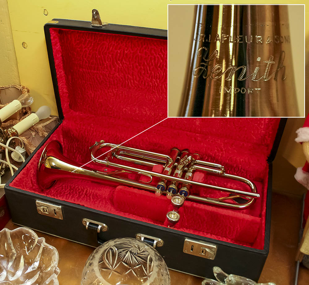 Trumpet med väska